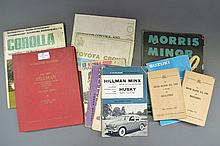 Collection of vintage car manuals