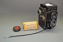 Reolleicord camera along with Kodak box and Kodak