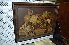 Antique French School, still life game and
