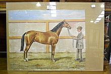 Duke Foote by C.W Readett? Watercolour, dated