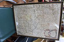 Antique 17th century Giacomo de Rossi, 1687, map,