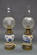 Pair of Antique French blue & white porcelain