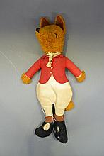 Vintage felt and plush Basil Brush toy, approx