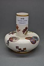 Antique Royal Worcester squat vase, approx 11cm H