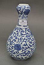 Antique Chinese Qing Dynasty Ming style blue &
