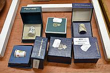 Set of 6 boxed Royal Worcester Thimbles (6)