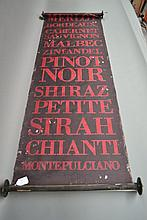 French wine banner in red and black