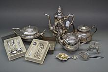 Assortment of Silver plated tea spoons, coffee