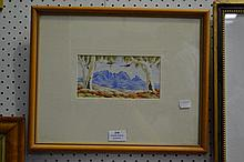 George Brown central Australia watercolour, approx