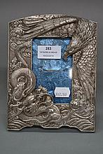 1920s Chinese silver picture frame depicting an