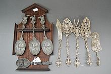 Decorative Italian serving utensils and a wall