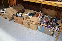Six boxes of books and magazines