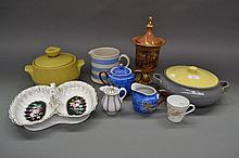 Assortment of china to include tureens, Cornish