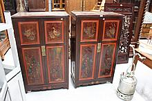 Pair of Chinese cupboards (2)
