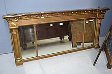 Antique English Regency Gilt over mantle mirror,