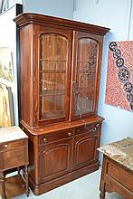 Antique two height cedar bookcase