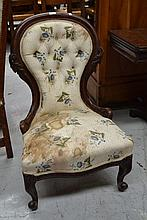 Antique Victorian grandmother chair