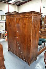 Antique European two door armoire