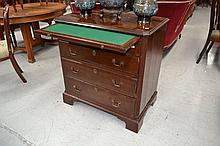 Antique George III chest with brushing slide,