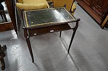 Tooled Leather topped telephone table