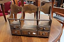 Small French rustic spice cabinet