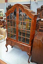 Impressive antique walnut Queen Anne style display