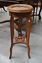 Antique French walnut Oriental inspired Jardiniere