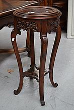 Antique carved Oriental jardiniere stand, with