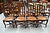 Eight French oak Louis XV style chairs, with X