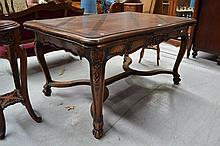 Antique French Louis XV style parquetry topped