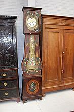 Antique 19th century comtoise clock with painted