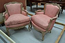 Pair of Vintage French Louis XV style distressed
