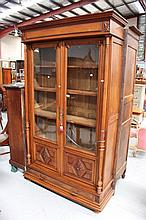 Antique French Henri II oak two door bookcase