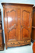 Antique late 18th century French two door armoire,