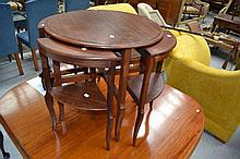 Vintage French nest of tables