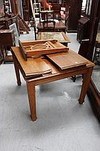 Vintage oak extension dining table, with extra