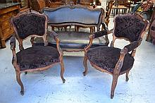 Antique French Louis XV style 19th century three