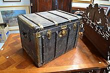 Antique French shipping trunk