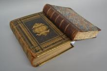 Two antique Bibles, The life of Christ & The Holy Bible (2)
