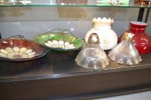 Assortment of antique and vintage light pendants