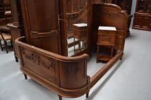 Impressive French 1920's Louis XVI style bed, approx 140cm H x 200cm W x 155cm D