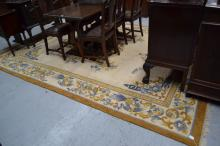 Large hand woven rug, approx 370cm L x 267cm W