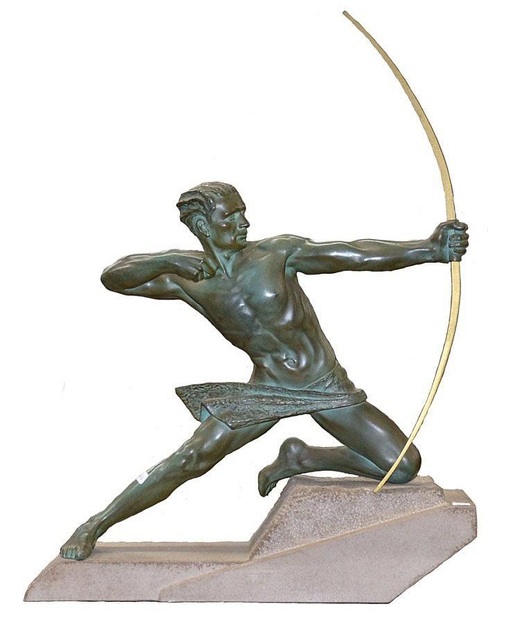 Max Le Verier (1892-1973 Belgium) Art Deco bronzed