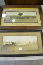 Two old horse racing photos,