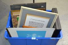 Box lot of paintings, prints, etc
