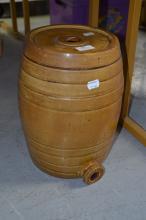 Powell Bristol glazed bung jar, approx 33cm H x 25cm dia