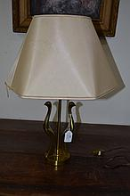 Riccardo Scarpa (1905-) Unusual brass lamp of two birds, approx 50cm H