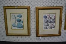 Pair of framed fruit studies, approx 23cm x 29cm (2)