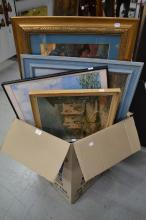 Lot to include assorted paintings, prints, etc