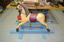 Vintage Childs Rocking horse, approx 92cm H x 140cm L